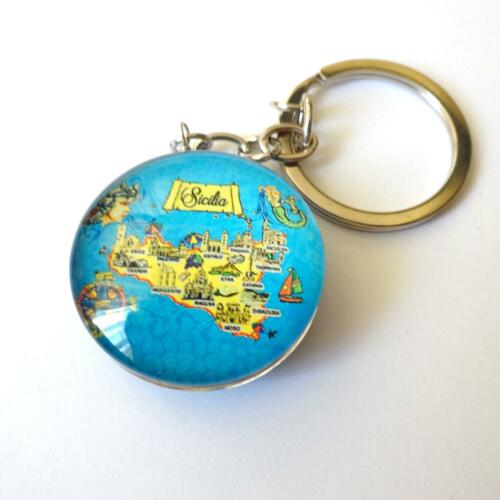 Crest pendant SICILY Stainless steel Key Chains 15 AA