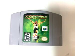 International-Track-amp-Field-2000-Nintendo-64-N64-Game-Tested-Authentic
