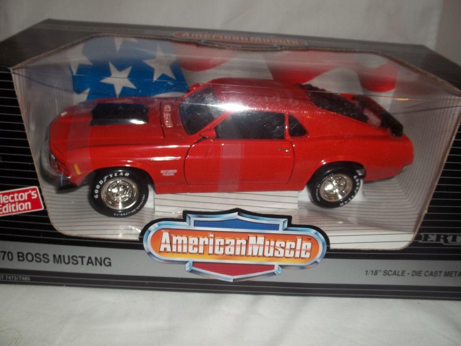 Ertl amerikanische power 7485 boss mustang 1970 Orange 1   18 mint & umzingelt