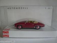 Busch 9838893, MB 190 SL, Cabrio offen Bj. 1955, Rot, H0 Auto Modell 1:87