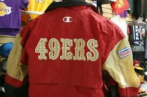 huge discount 578e5 8fe8b Details about San Francisco 49ers Original 80's PRO LINE Starter Style  Champion Jacket NWT Lg