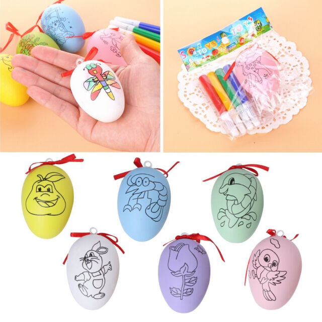 3pcs DIYPainting Easter Eggs Creative Simulation Egg Kids Educational Gift ToySC