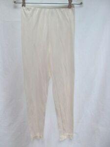 Warm-N-Silky-sz-S-pantie-lingerie-petti-pant-long-leg-liner-underwear-lace-MINT