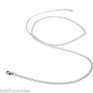 LP-Edelstahl-Ankerkette-Silber-Schmuckkette-Damenkette-Herrenkette-70cm-2-5mm