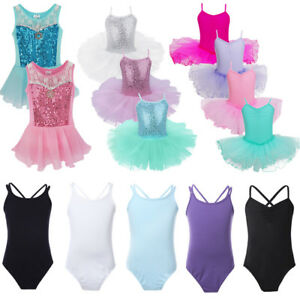 Girls-Gymnastics-Leotard-Dress-Ballet-Leotard-Dance-Tutu-Skirt-Dancewear-Costume