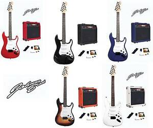 johnny brook electric guitar kit set 20w amplifier music perfect gift package ebay. Black Bedroom Furniture Sets. Home Design Ideas