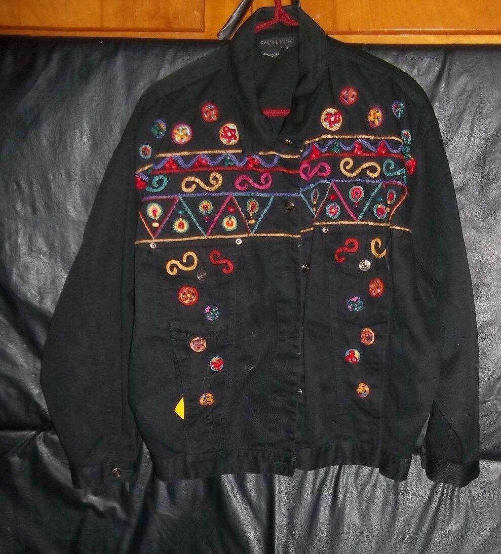 Carol Little  Sport  Cotton coat with bead decoration  SIZE WOMEN'S 8