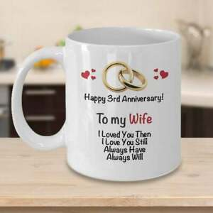 3rd Anniversary Gift Ideas From Husband 3rd Wedding Anniversary Gift For Wife Ebay