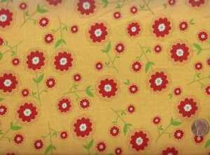 Delighted-yellow-red-floral-flowers-Riley-Blake-fabric