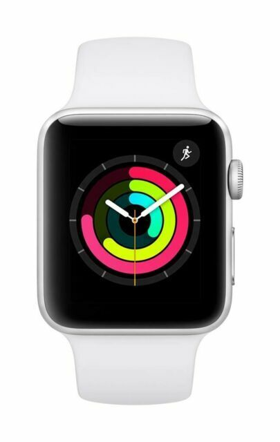 Apple Watch Series 3 Gps 42mm Silver Aluminum Case White Sport Band Mtf22ll A For Sale Online Ebay
