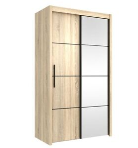 image is loading inova small sliding door wardrobe cupboard oak effect - Small Wardrobe