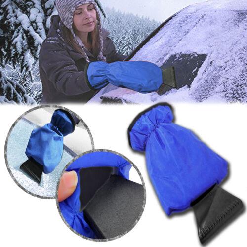 Zone Tech Waterproof Car Ice Snow Scraper Mitt Fleece Glove Window Windshield