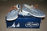 Sperry Top-sider® For J.crew Auth Original 2-eye Boat Shoes Chambray Anh Size 6m