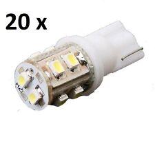 20 X Car Ultra White T10 10-SMD LED Side Wedge Light Lamp Bulbs W5W 168 194 2825
