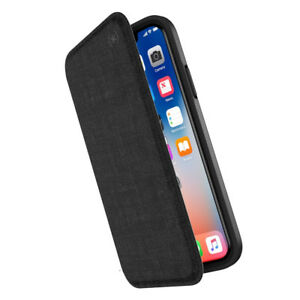 outlet store 08fd6 ad3d7 Details about Speck Presidio Folio Impact Protection Case for iPhone XR -  Black/Slate Grey