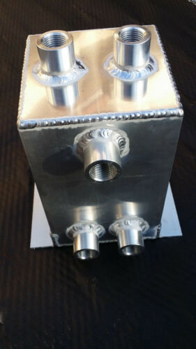 "Universal Fuel Surge Tank 1 Gallon Swirl Pot System Aluminium 1//2/"" NPT Port"