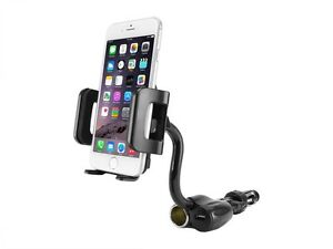 Car-Mount-Phone-Holder-Cradle-w-USB-DC-Charger-Port-for-Apple-iPhone-6S-Plus