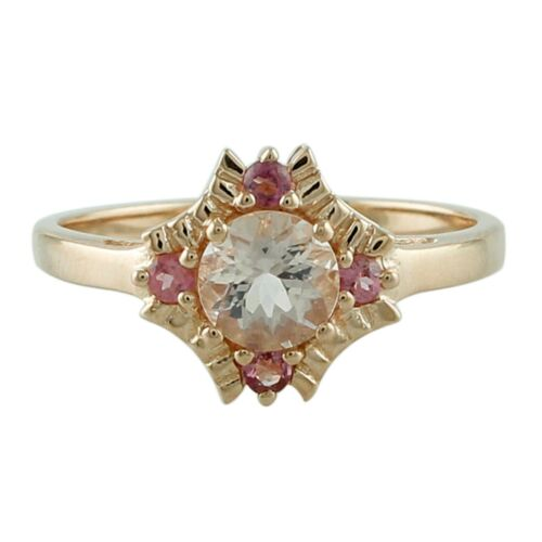 With Pink Tourmaline Exotic Ring 925 Silver Jewelry Beautiful Morganite 0.85 Ct