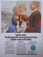 1971 PUB COMPAGNIE AERIENNE PAN AM AIRLINE BOEING 747 AIRLINER ORIGINAL AD