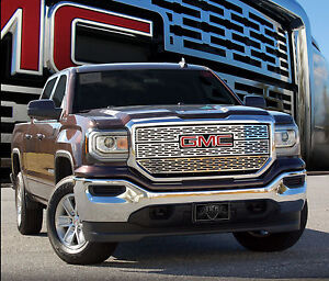 2016 gmc sierra 1500 slt 3pc stainless steel z grille. Black Bedroom Furniture Sets. Home Design Ideas
