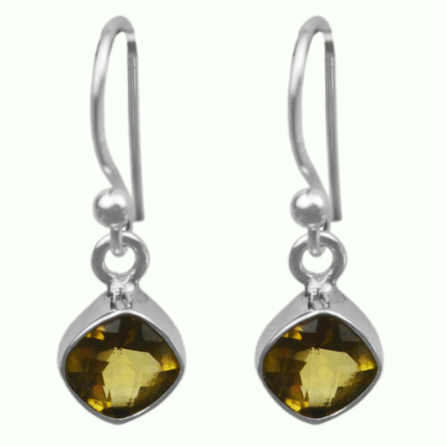Citrine gemstone dangle earrings Jewelry 1.77 gms 925 Sterling Sliver