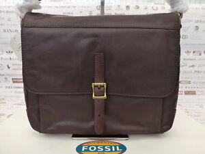 £ Schultertasche Dk Bag Rp Slim Fossil Messenger 189 Ledertasche Depender Braune q4HHOz