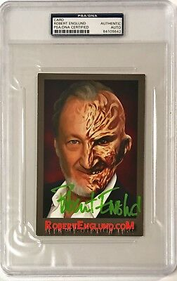Autographs-original Cards & Papers a Robert Englund Freddy Krueger Nightmare Signed 4x6 Photo Auto Card Psa/dna