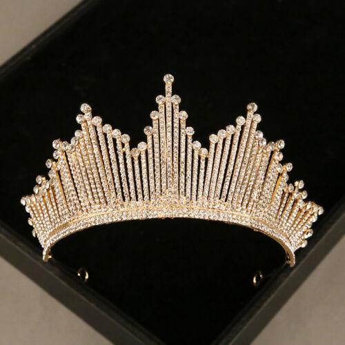 Bridal Wedding Crystal Flower Tiara Crown Pearl Rhinestone Hair Headband Qu TDO