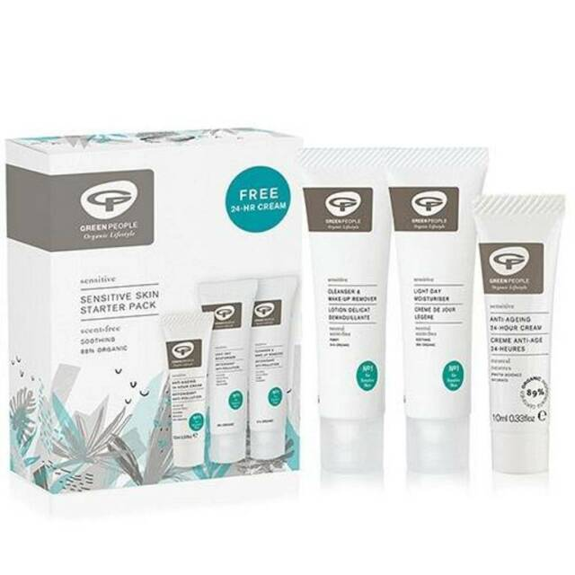 Green People Sensitive Skin Starter Pack Free 24-HR Cream