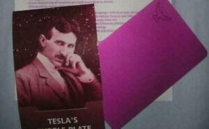 Nikola Tesla Purple Plate 11,4 x 7,3 cm Original | eBay