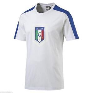 T-shirt-maglia-nazionale-italiana-Calcio-Figc-fanwear-Sport-Puma-Uomo-S-M-L-XL