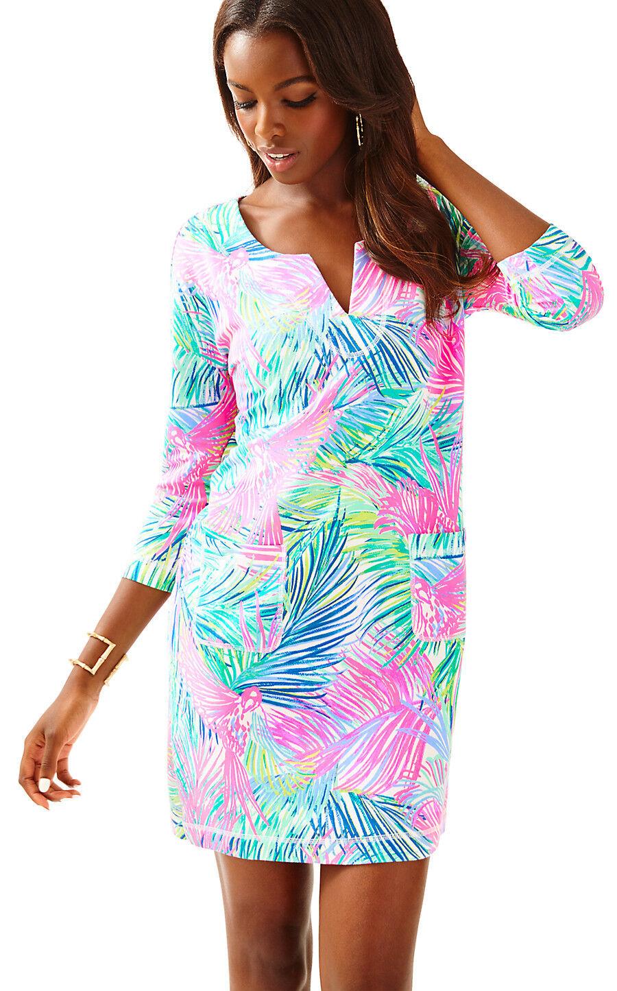 NWT Lilly Pulitzer Scarlet Macaw UPF 50+ Joyce Dress, Sz S,