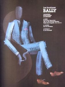Bally A Maroquinerie De Chaussures Les Publicité 1984 Boutiques Presse gauthier HqWS61