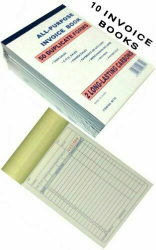 1 PC INVOICE BOOK 50 DUPLICATE FORMS ALL PURPOSE 2LONG-LASTING CARBONS