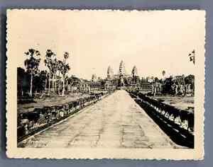 Cambodge-Angkor-Vat-Vintage-silver-print-Tirage-argentique-d-039-epoque
