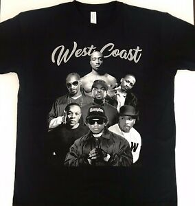 2pac-Ice-Cube-Snoop-Dogg-West-Coast-Hip-Hop-Urban-Legends-Black-Tee