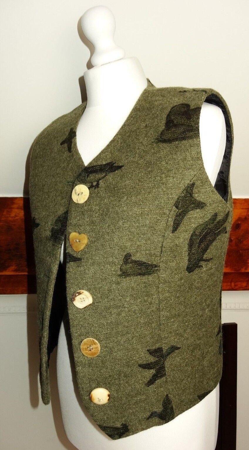 P19 verde Lana Hammerschmid alemán mujeres invierno Chaleco de caza S 36 S