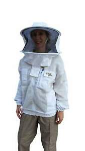 OZ-ARMOUR-3-Layer-Mesh-Ventilated-Beekeeping-Jacket-With-Round-Hat-Veil