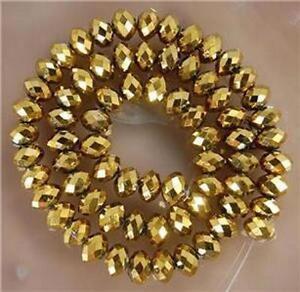 4X6mm-98pcs-d-039-or-cristal-facettes-gemme-perles-en-vrac