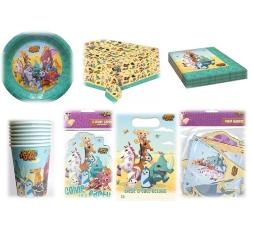 Tableware Balloons /& Decorations Kids {GEMMA} ANIMAL JAM Birthday PARTY Range