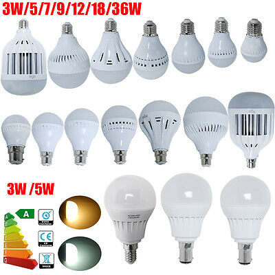 3W/5W/7W/9W B22 E27 E14 B15 SMD Bayonet LED Light Bulb Lamps Globe Energy Saving