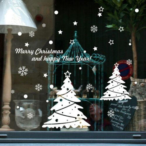 Christmas Snowman Removable Home Vinyl Window Wall Room Stickers Decal Decor  DE