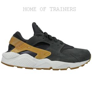 Nike-Air-Huarache-Negro-Marron-Blanco-318429-090-Para-hombre-Zapatillas-Todos-Los-Tamanos-PTI