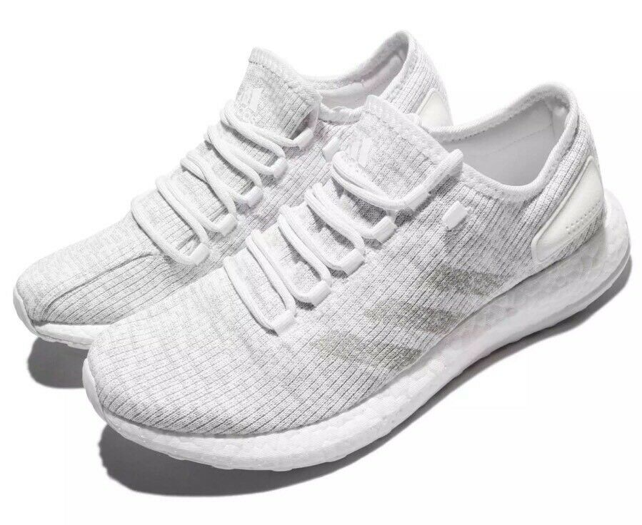 ADIDAS PureBOOST Uomo Size 11 Running Shoes White S81991 Free S/H! NEW