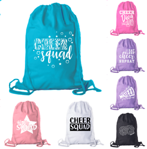 af2e4a158f35 Details about Cotton Cheerleading backpacks Pom Drawstring bags Cheerleader  Team Cinch bag