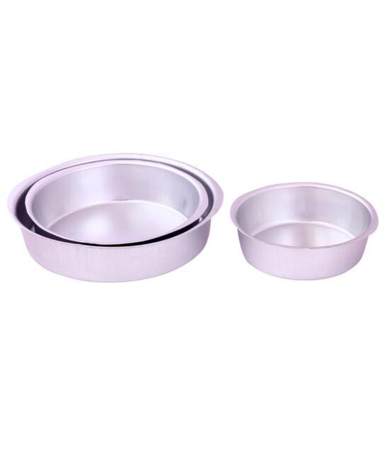 3 pcs Aluminium Round Cake Tin/Mould Baking Pan