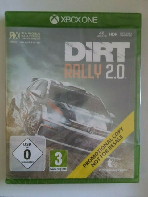DiRT RALLY 2.0 XBOX ONE RACING GAME - NEW & FACTORY SEALED PROMO VERSION