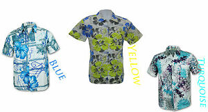 timeless design 4078e 47ff7 Dettagli su Men's Hawaiian Floral maniche corte camicie colorate, Partito  Wear- mostra il titolo originale
