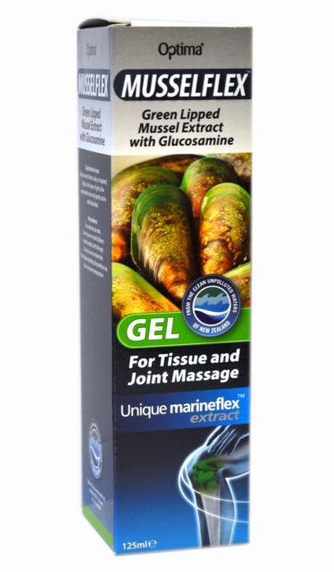 1 CONFEZIONE OPTIMA musselflex con Glucosamina MASSAGGIO GEL 125 ml COZZE