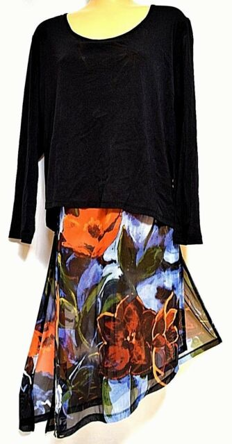 TS top TAKING SHAPE plus sz L / 22 Heritage Tunic stretch flowing NWT rrp $120!